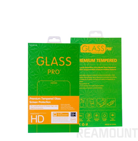 50 pcs Original Packaging for 9H Hardness Tempered Glass for iPhone Retail Packaging Paper Box for Sell Phone Screen Protector