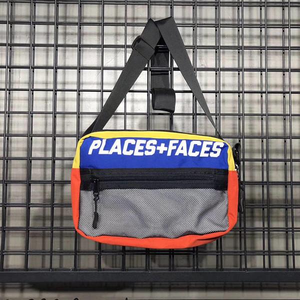 LUGARES + MÁSCARAS Mochila P + F Saco Da Cintura Saco Do Mensageiro Saco Da Cintura Homens Fanny Pack Designer Homens Bolsa Da Cintura Bolsa Pequena Grafite Barriga Sacos