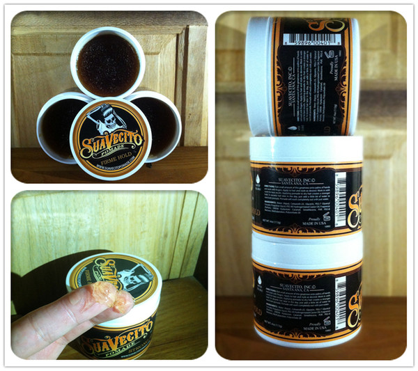 top popular Suavecito Pomade Hair Gel Style firme hold Pomades Waxes Strong hold restoring ancient ways big skeleton hair slicked back hair oil wax mud 2021