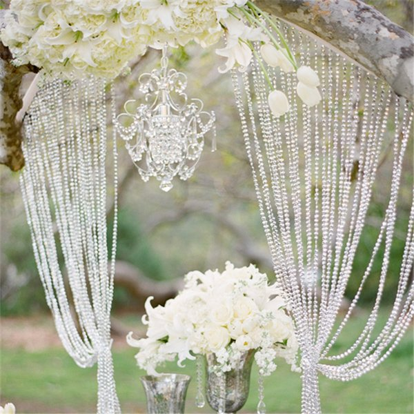 30meters /99ft /Roll Diy Iridescent Garland Diamond Acrylic Crystal Beads Strand Shimmery Wedding Tree Christmas Decoration