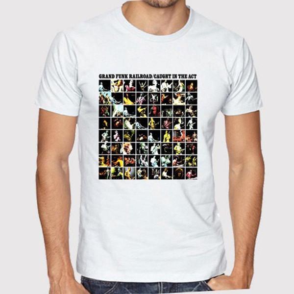 Yeni Grand Funk Demiryolu Yasası Yakalandı erkek Beyaz T-Shirt Beden S 3XL