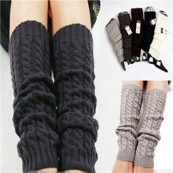Winter Beinlinge für Frauen Fashion Gamaschen Boot Manschetten Frau Oberschenkel Hohe warme schwarze Weihnachtsgeschenke Knit Knitted Kniestrümpfe