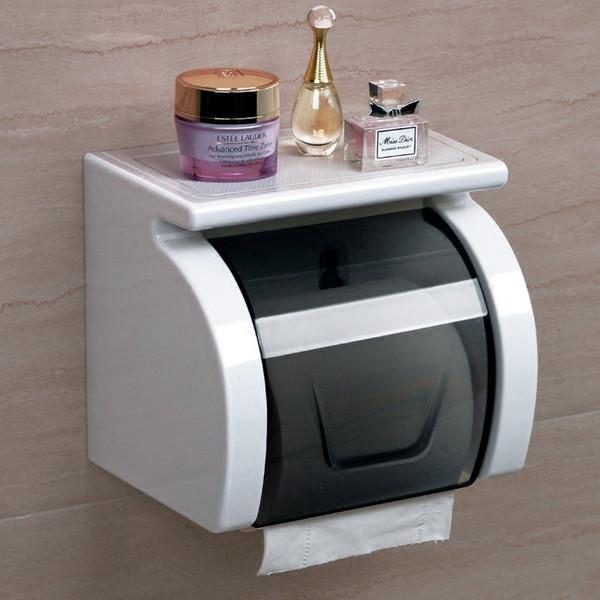 Plastic Paper Holder Toilet Paper Box Wall Mounted Thickened Tissue Box Bathroom Accessories Waterproof Portarrollo Acero Inoxidable