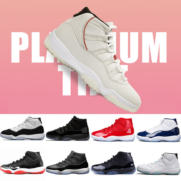11 11s Platinum Tint Concord 45 Cap and Gown For Mens Women Basketball Shoes UNC Gym Red Gamma Blue Designer Trainer Sport Sneakers