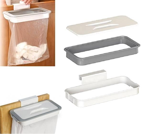 Garbage bag holder, cabinet door hanger, practical kitchen utensils gadget storage and organization toolsave space mx5125
