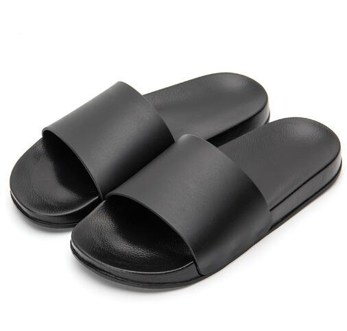 2018 Men Slipper Casual Black And White Shoes Non-slip Slides Bathroom Summer Sandals Soft Sole Flip Flops Man