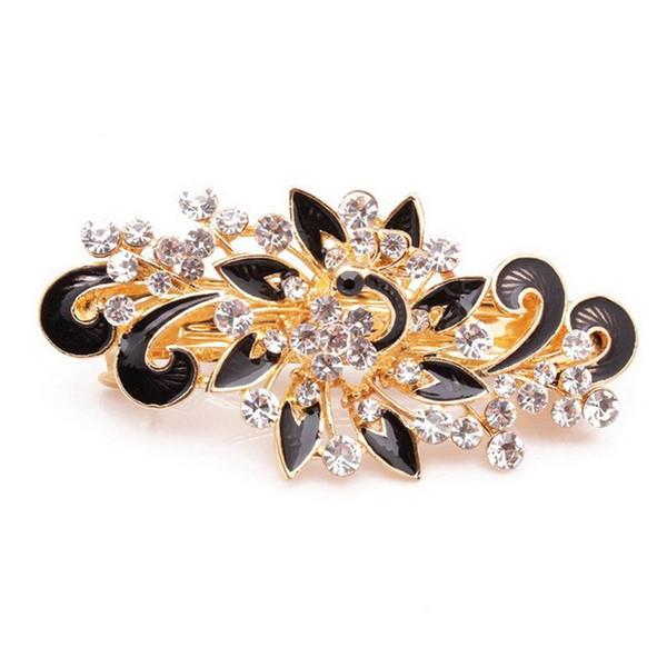2017 Venta Caliente de La Moda de Las Mujeres Horquillas de Colores Brillantes Rhinestones Flor Horquilla Pinza de Pelo Accesorios de la joyería
