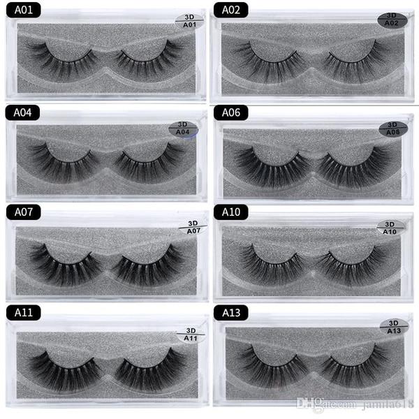 Natural Thick 3D Makeup full Strip Eyelashes Thick Fake Eyelashes Hand-made False Eyelashes Eye lashes Make Up eyelash extension 1 Pair