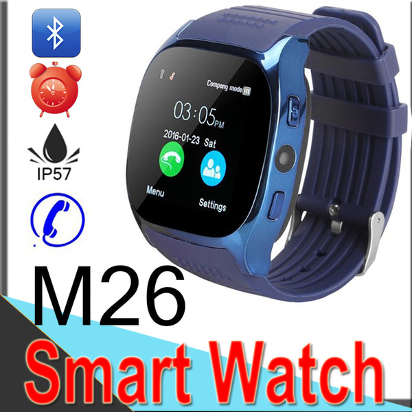 M26 smart Watches Wireless Bluetooth Smart Band Phone Bracelet Camera Remote Control Anti-lost alarm Barometer V8 U8watch forIOS Android XM2