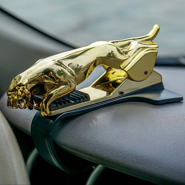 Universal Car Phone Holder Dashboard Mount Cool Leopard Cellphone Clip GPS Bracket Mobile Phone Holder Stand for Xiaomi iPhone