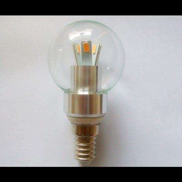 LED 3W E14 Candelabra Base Cool White 6000K Dimmable 40 watt incandescent Candle Light Globe Bulb