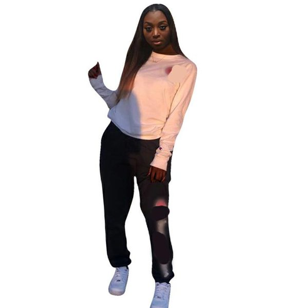 Women Sport Suits Tracksuit Long Sleeve Top Tees + Pants Trousers Two Pieces Set Female ladies Sweatsuits Outfit Clothing