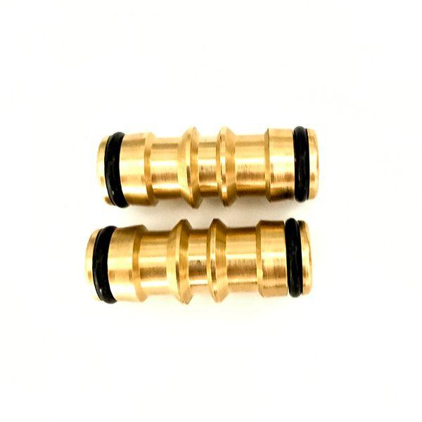mender 2 Pcs 2 Way Quick Coupling Brass Garden Repair Mender Connector Adapter For Garden Irrigation and Car Wish Hose