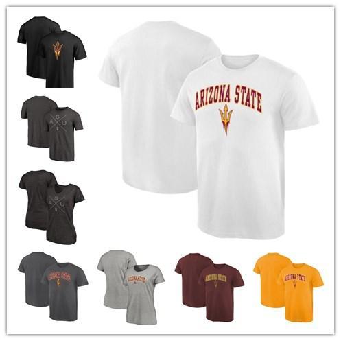 Mens Arizona State Sun Devils Fanatics Branded Campus T-Shirt white red yellow black grey Size S-XXXL free shipping