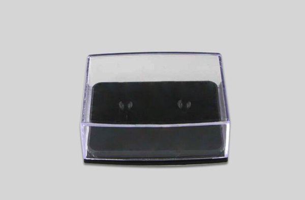 Transparent Plastic Cuff Links Box Gift Box Cufflinks Display Holder Storage Carrying Case Wholesale 200pcs/lot