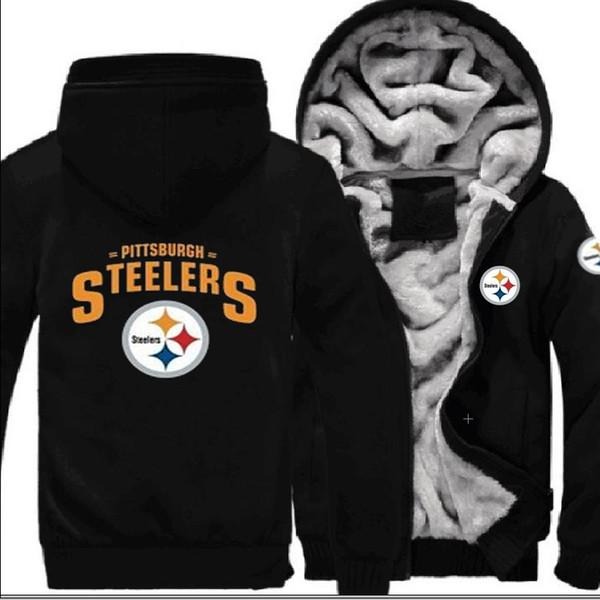 separation shoes cac43 45284 2019 NEW Pittsburgh Steelers Team Sweatshirt Warm Fleece Thicken Jacket  Zipper Coat Hoodie & Sweatshirts Up To Date Jackets From Hu860818, &Price;    ...