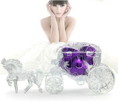 200 pcs Candy Box Fashion Hot Fairy Tale carriage transparent wedding favour boxes gift box sweet box