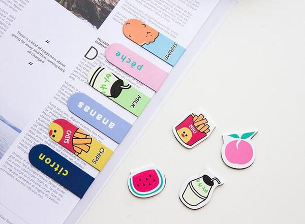 100 packs (2 adet / paket) Sevimli Mıknatıs Imleri Ataş Okul Ofis Malzemeleri Escolar Papelaria Hediye Kırtasiye