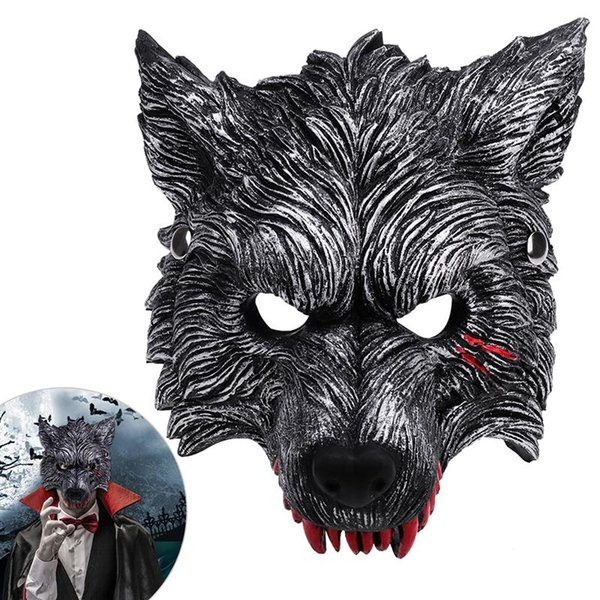 BESTOYARD Wolf Mask Wolf Head Mask for Halloween Costume Masquerade Cosplay
