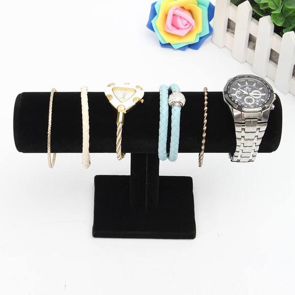 1Pcs Bracelet Chain Watch Holder T Bar Rack Jewelry Display Organizer Stand Holder Packgaing Velvet
