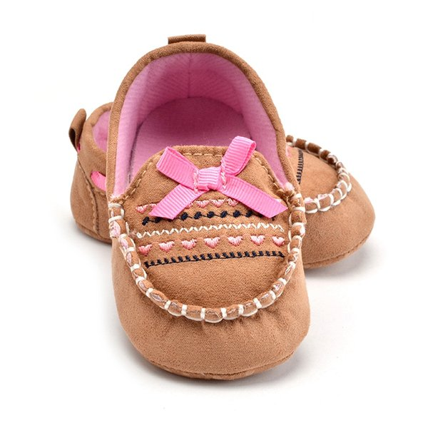 2018 Girls Baby Toddler Shoes Infant Prewalker Baby Girl Shoes First Walkers Canvas Moccasins