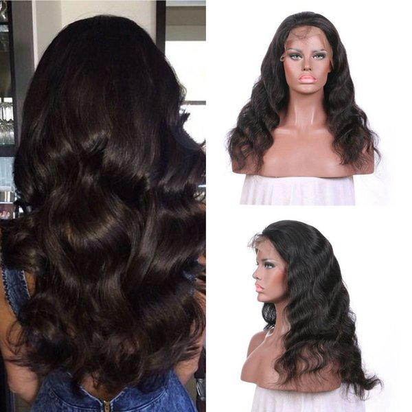 130% Density Full Lace Wigs For Black Women Virgin European Human Hair Free Part Body Wave Lace Front Wigs G-EASY