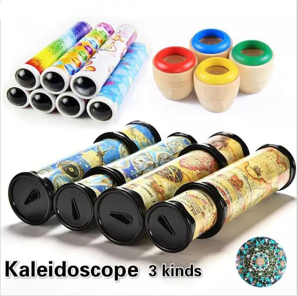 3 tipos de caleidoscopios giratorios juguete mágico colorido mundo preescolar juguetes juguetes educativos de ciencia mejores regalos para niños GYH