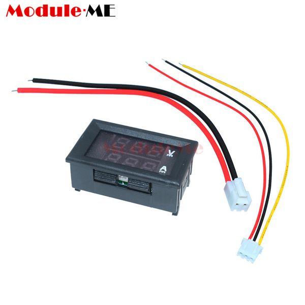 """0.28 inch Mini Digital Voltmeter Ammeter DC 100V 10A Panel Amp Volt Current Meter Tester 0.28"""" Blue Red Dual LED Display 20mA"""