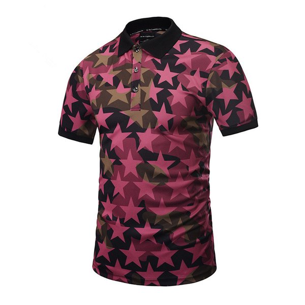 Mens Polo T Chemises Étoiles 3D Imprimer Été Tops Tees À Manches Courtes Hip Hop T Chemises Brand Clothing New Fashion