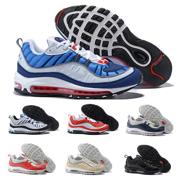 Compre Nike Air Max 98 Airmax Los Entrenadores De Las Zapatillas De Deporte Del Calzado De Deporte De La Venta Al Por Mayor De Alta Calidad De Los
