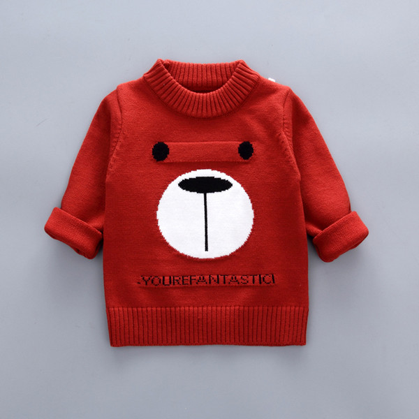 de8d68ccdf0 Children'S Spring Sweaters Boys Cartoon Bear Long Sleeves Sweater Autumn  Boys Girls Cotton Knitwear Clothes Kids Pullover Warm Cardigans Toddler Boy  ...