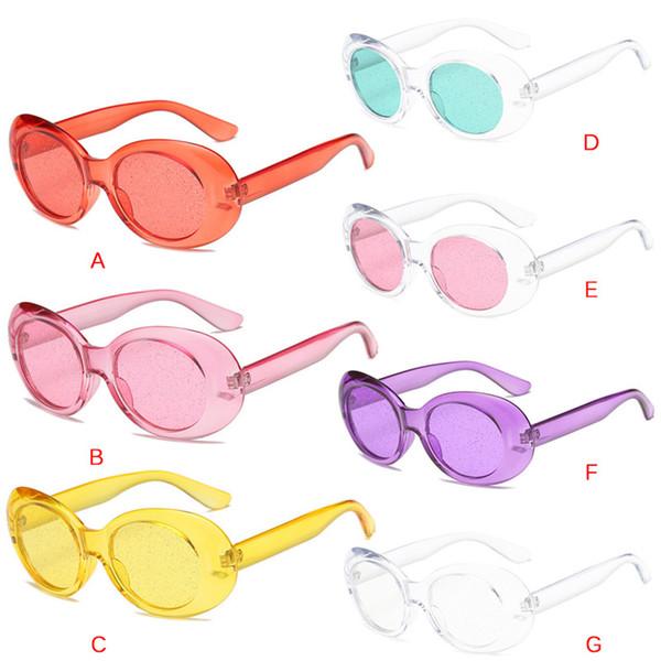 6cb5e7f7f32f4 Nova Venda Oval Óculos De Sol Da Moda Das Mulheres Dos Homens Verde Rosa  Vermelha Quadro