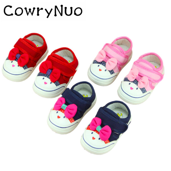 Insole 11.5-14cm Fashion Kids Baby Girls Shoes Canvas Cartoon Baby Toddler Shoes Sneakers