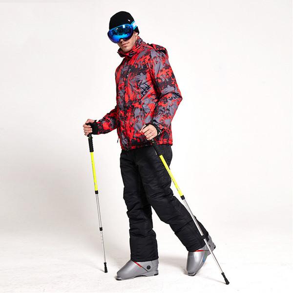 2018 New Winter Ski Suit Men Set Windproof Waterproof Warm Skiing Snowboarding Suits Set Male Outdoor Hot Ski jacket+Pant 332wy