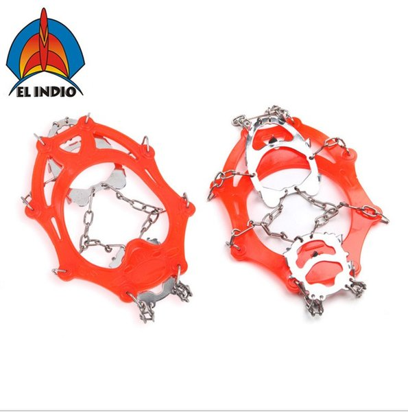 EL INDIO AT8605 Ice Gripper Outdoor Crampons Antiskid Shoe Covers Climbing Claw Hiking Ski
