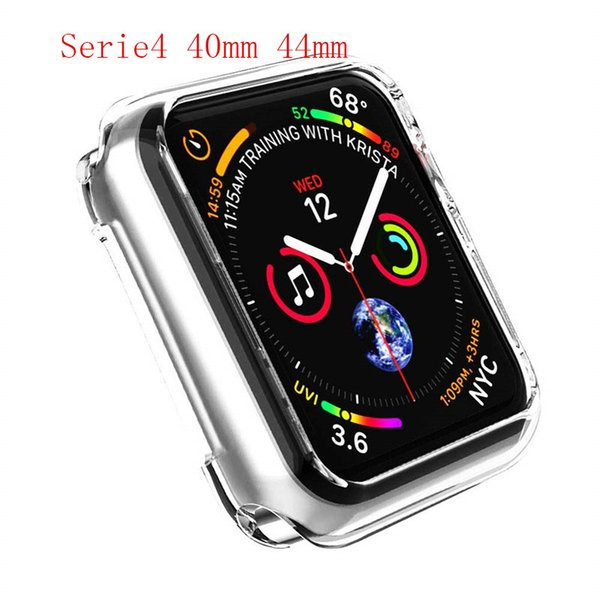 ASHEI Soft for iWatch Series 1234 TPU Back Protector for Apple Watch LCD glass Case 42mm 38mm 40mm 44mm All Ultra-Slim Protector Cover