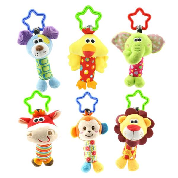 Rasseln Kinderspielzeug Kinderspielzeug Kuscheltier Affe Plüsch Baby Beißring Hängekinderwagen Sound Weihnachtsgeschenk