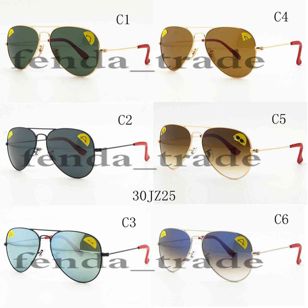58mm Progressive color lens brand HOT SALE summer luxury GOGGLE man UV400 protection Glass Sun glasses Fashion men women Pilot Sunglasses