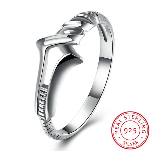 925 Sterling Sier Ring Dragon Couple Male Cool Viking Knuckles Elegant Female Romantic Sier Rings for Women Jewerly
