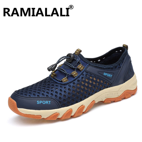 Ramialali Men Hiking Shoes for Outdoor Sport Climbing Mountain Sneakers Breathable Air Mesh Soft Athletics Trekking Shoes