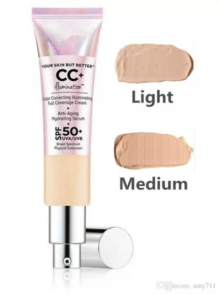 Hot CC Cream Face Skin Concealer Cream Illumination 2018 New Foundation Primer 2 Color Light/Medium DHL Free Shipping