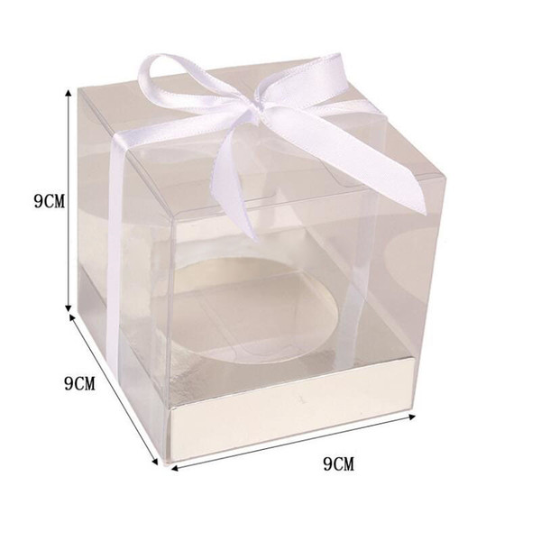 Brown White Kraft Paper Cupcake Box Cake Box With Clear Window Wedding Party Favor Box Cake Packaging QW8468