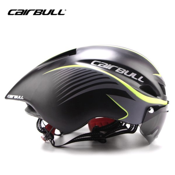 CAIRBULL In-mold Adult Bicycle Helmets Stylish Adult Road Bike Helmet Adjustable Outdoor Sports Cycling Helmet with Goggle Lens