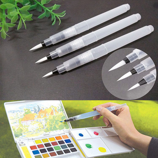 Peerless 3pcs Refillable Pilot Water Brush Ink Pen Drawing Painting Brush Pen Office & School Supplies