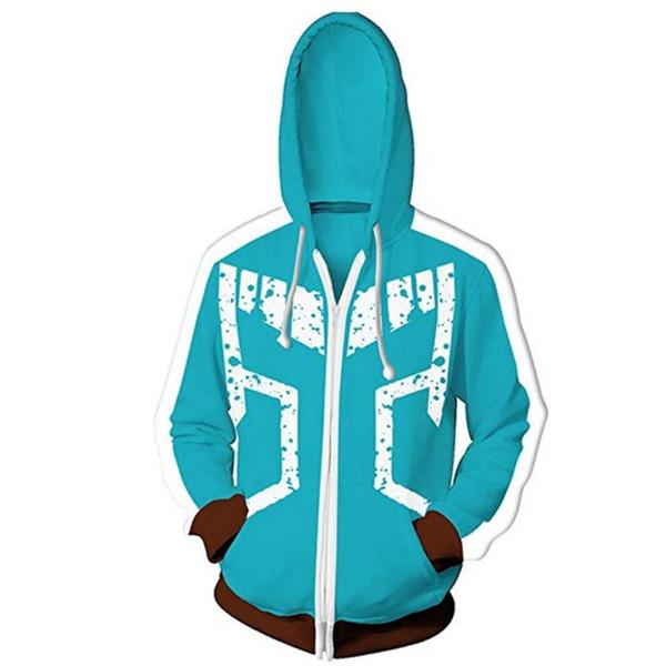 Zipper Coat Blue