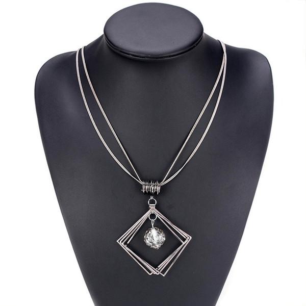 MISANANRYNE Women's Elegant Pendant Necklace Female Vintage Trendy Jewelry Necklace For Women Girls Girlfriend Party Gift