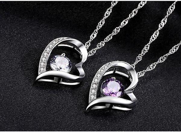 Alta qualidade de cristal Austríaco Diamantes Amor Coração Pingente Declaração Colar de Moda Classe Mulheres Meninas Lady Swarovski Elements Jóias DHL