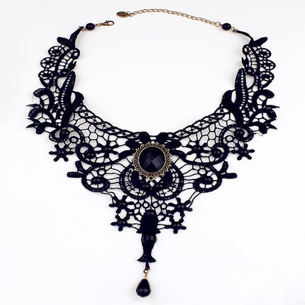 Ahmed Jewelry Wholesale Good Quality Beauty Girl Handmade Jewelry Gothic Vintage Lace Necklace Collar Choker Necklace Woman