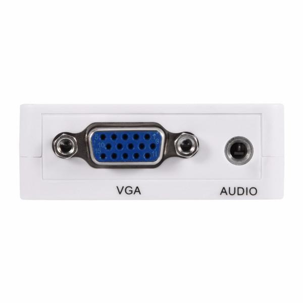 Convertitore VGA a HDMI Adattatore 1080P VGA2HM Cavo di alimentazione audio per PC Laptop DVD a HDTV Proiettore
