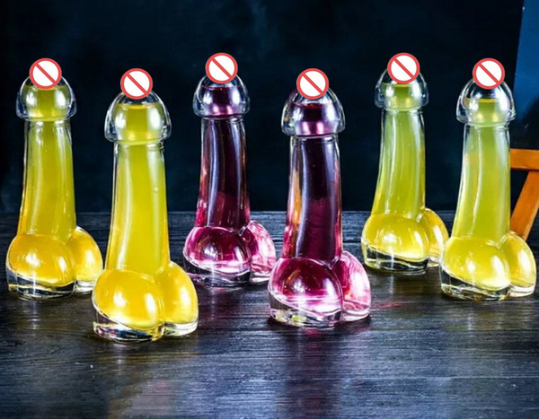 Creative Transparent penis wine glasses,drink cups,cocktail glass,for a variety of Bachelor bars or parties